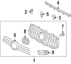 parts com® toyota rav4 cowl oem parts 2007 toyota rav4 base v6 3 5 liter gas cowl