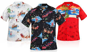 Christmas Hawaiian Shirts | Groupon Goods