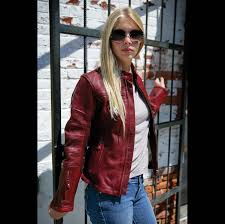roland sands design maven women s oxblood red leather jacket