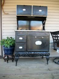 This super stove is the perfect accent to a country kitchen in a Victorian  House.