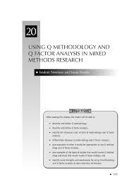 Using Q Methodology and Q Factor Analysis in Mixed Methods Research (PDF  Download Available)