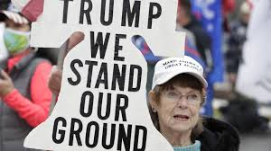 US election 2020: Tempers flare as Donald Trump supporters rally in  Washington