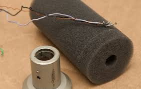refurbishing a classic microphone the electro voice re20 jeff Re20 Wiring Diagram electro voice re20 wires on foam mic capsule sleeve Shure SM7B