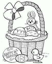 Colorful eggs, holy lamb, funny bunny, a basket full of fancy food as well as blooming flowers which appear during this season. Basket Easter Eggs Coloring Pages Easter Bunny Colouring Easter Colouring Easter Coloring Book
