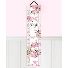Toad And Lily Growth Chart Toad And Lily Cherry Blossom Personalized Growth Chart