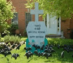Tombstone Birthday Yard Sign Rental