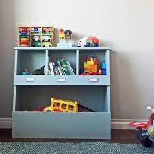 kid storage bins wood