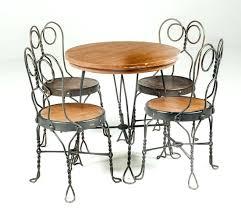 frightening 5 antique ice cream parlor set antique ice cream parlor table and chairs set