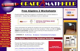 Top 6 Places for Algebra II Worksheets and Algebra II Homework ...