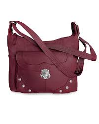 com concealed carry purse front studded pocket leather purse left righthand draw ccw by roma leathers wine shoes