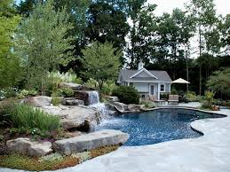 Best Stunning Pools With Waterfalls Images On Pinterest