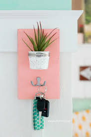 Cute DIY Faux Succulent Key Holder