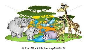 group of animals clipart. Simple Animals Group Of African Animals  Csp1598459 And Of Animals Clipart M