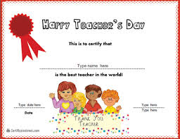 Best Teacher Certificate Templates Free Free Certificate Templates For Teachers World Teachers Day