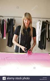 Fashion Designer Part Time Job Tailoring Woman Young Tape Measure Substance Cut To