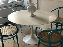 round marble saarinen style tulip dining table 48