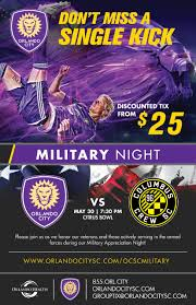 flyers orlando military night orlando city soccer club