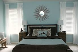 Extraordinary White Bedroom Curtains For Two Windows White Wooden Frames  And Cool Soft Blue Wall Painting As Well As Sweet Artwork Wall Decor And  Pair Of ...