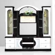Mdf Red And White Living Room Cabinet Wall Units 815Ab Tv Cabinet