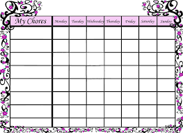 chore chart template for teenagers inspirational chore chart template beautiful mrs this and that free