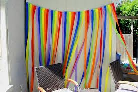 rainbow party rainbow streamers birthday party