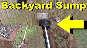 backyard sump pump water collection