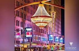 the ge chandelier shines brightly marking the heart of cleveland s theater district and the center of playhouse square