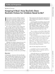 Keeping It Real: How Realistic Does Realistic Fiction for Children Need to  Be? | Profanity | Reality