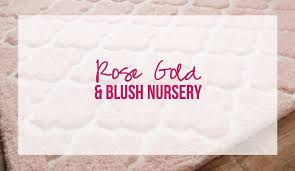 rose gold and blush nursery happily