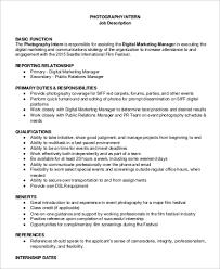 Photographer Job Description Samples 8 Examples In Pdf