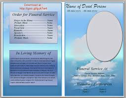 Bulletin Templates Word Free Funeral Program Template Word Create Photo Gallery For Website