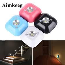 <b>Aimkeeg Mini Wireless LED</b> Sensor Night Light Lamp PIR Infrared ...