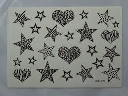 Střední Tetování Srdce Hvězda