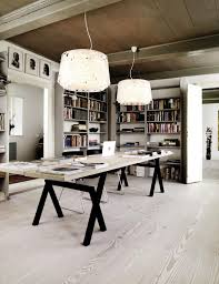 creative office space large. Ideal Huge Desk, Like The Light Color Pallet, Book Storage And  Open/close Connection With Other Places In House. Creative Office Space Large