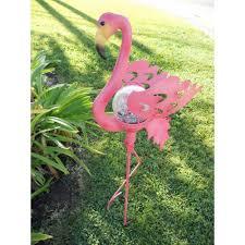 flamingo garden statue.  Flamingo CreativeMotionIndustriesPinkFlamingoGardenStatueSolar Inside Flamingo Garden Statue