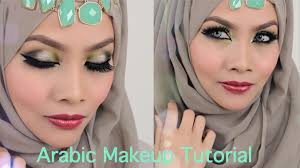 arabic inspired smokey green eyeshadow sendayu tinggi make up tutorial you