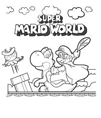 Coloring Pages For Kids Printable Super Mario With Free Printable
