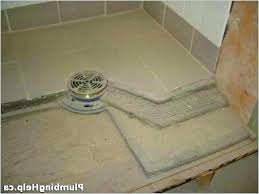how to install tile shower floor pn laying ceramic in a