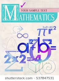 vector cover a background from scientific formulas for book textbook