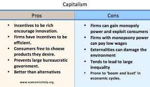 pros and cons of capitalism economics help pros of capitalism ""