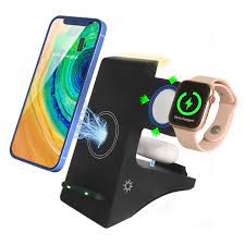Bộ Sạc Không Dây 4 Trong 1 Cho Điện Thoại Apple Android, Apple Watch Bộ Sạc  Không Dây Apple Airpods - Đế sạc không dây