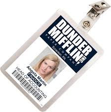 Badge Office The Office Angela Martin Dunder Mifflin Id Badge Cosplay Costume Name Tag Prop