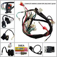 full electrics wiring harness loom coil cdi 200 250 300cc quad image is loading full electrics wiring harness loom coil cdi 200