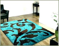 blue brown area rug and