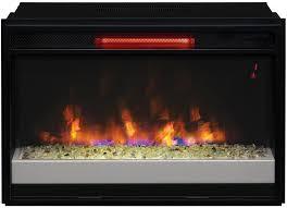 contemporary infrared quartz electric fireplace insert flush mount trim kit