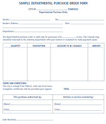 Purchase Order Forms Sample Departmental Purchase Order Form Sample Mtas