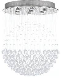 modern rain drop chandelier with crystal