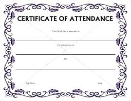 free perfect attendance certificate perfect attendance certificate 100 template percent ficate templates