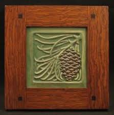 Decorative Tile Frames Framed Oak Leaf and acorn tile by Fay Jones Day Framed Art Tile 16