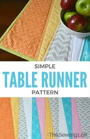 Freshen up your space with this easy to make table runner. Not only is it